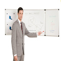 Jiangsu wall mounted folded whiteboard with magnets120*480cm