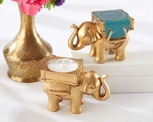 Elefante fortunato Dorato Tea Light Holder