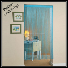 Single curtain with sequins
