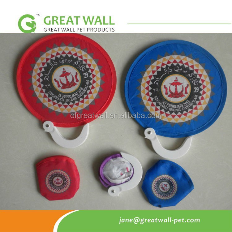 Hot sale Nylon frisbee fan with Pouch