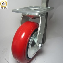 4060 Direction Ball Bearing Type Heavy Duty Caster Wheel With Pu Cast Iron Wheel