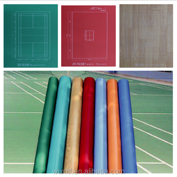 3.5mm~12mm Antislip Colorful PVC flooring from china, pvc vinyl flooring pvc material indoor basketball court sport flooring