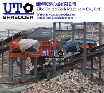 rogger wire from pulping process in pulp and paper factry double shaft shredder /High Efficiency low nosie / Two Shear Crusher