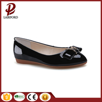 Cheap Price Bulk Wholesale Beautiful Bowtie Breathable Real Leather Lining New Style Flat Girls Shoes