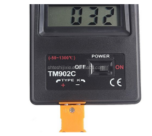 WSK-101 digital thermocouple temperature meter water high temperature flow meter