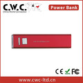 fast charging power bank in red color