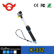 14-24'' Transparent Clear Floating Extension Extendable Selfie Pole Monopod with Screw for Gopro camera xiaomi yi