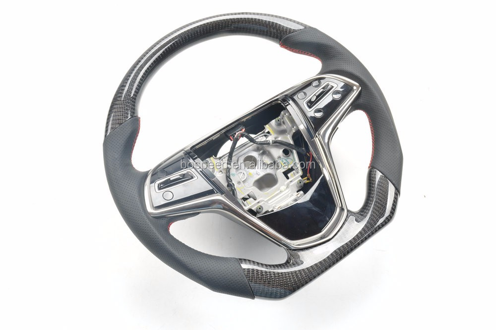 100% real carbon fiber car steering wheel for Cadillac