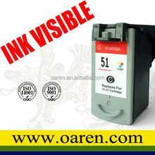 Printer ink cartridges for Canon CL-51 CL51 High Capacity for Canon 51 PIXMA