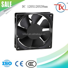 Cabinet dc cooling fan with thermostat 120X120X38mm