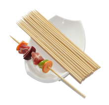 Bamboo Barbecue Skewer Dia3.0mm X15cm Knotted Bamboo Skewer 100pc Per Bag