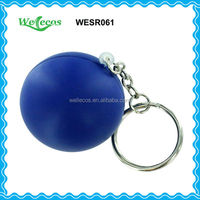 PU Stress Ball With Keychain