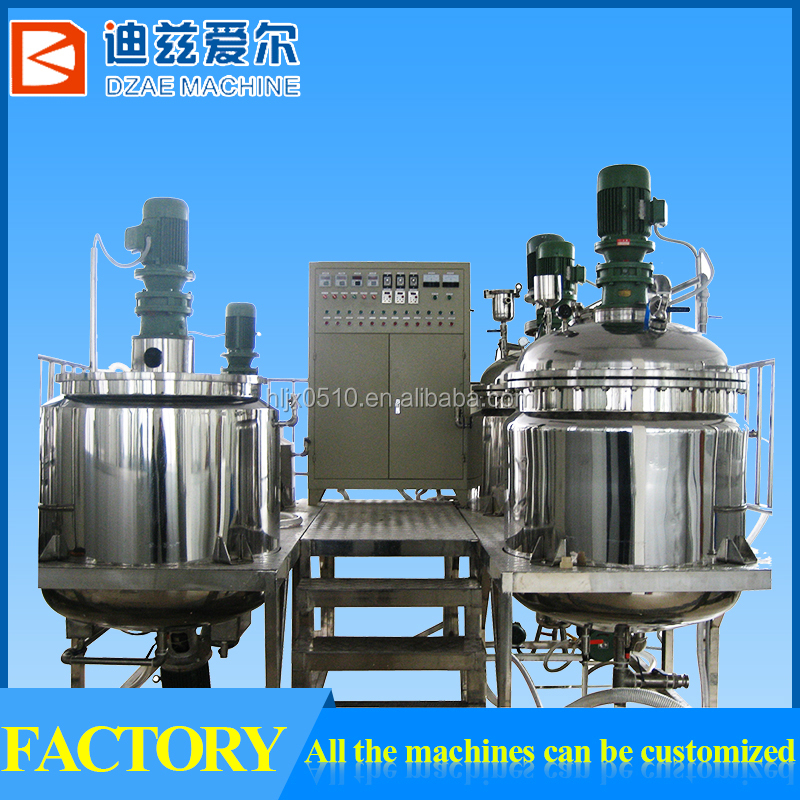 650L Automatic Vacuum Emulsifying Mixer Lube Oil Blending Machine