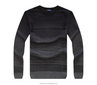 pullover men round neck knitting Jacquard pattern wool and acrylic sweater