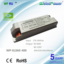 5 years warranty CE adjustable current led driver 40W 50W 60W flicker free 300ma,320ma,350ma,400ma,80-150V
