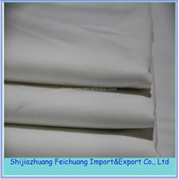 65%polyester 35%cotton poplin bleached fabric for doctor uniform