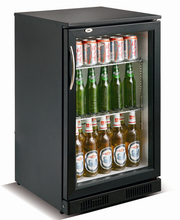 118L stainless steel showcase back bar beer bottle cooler/refrigeration/fridge
