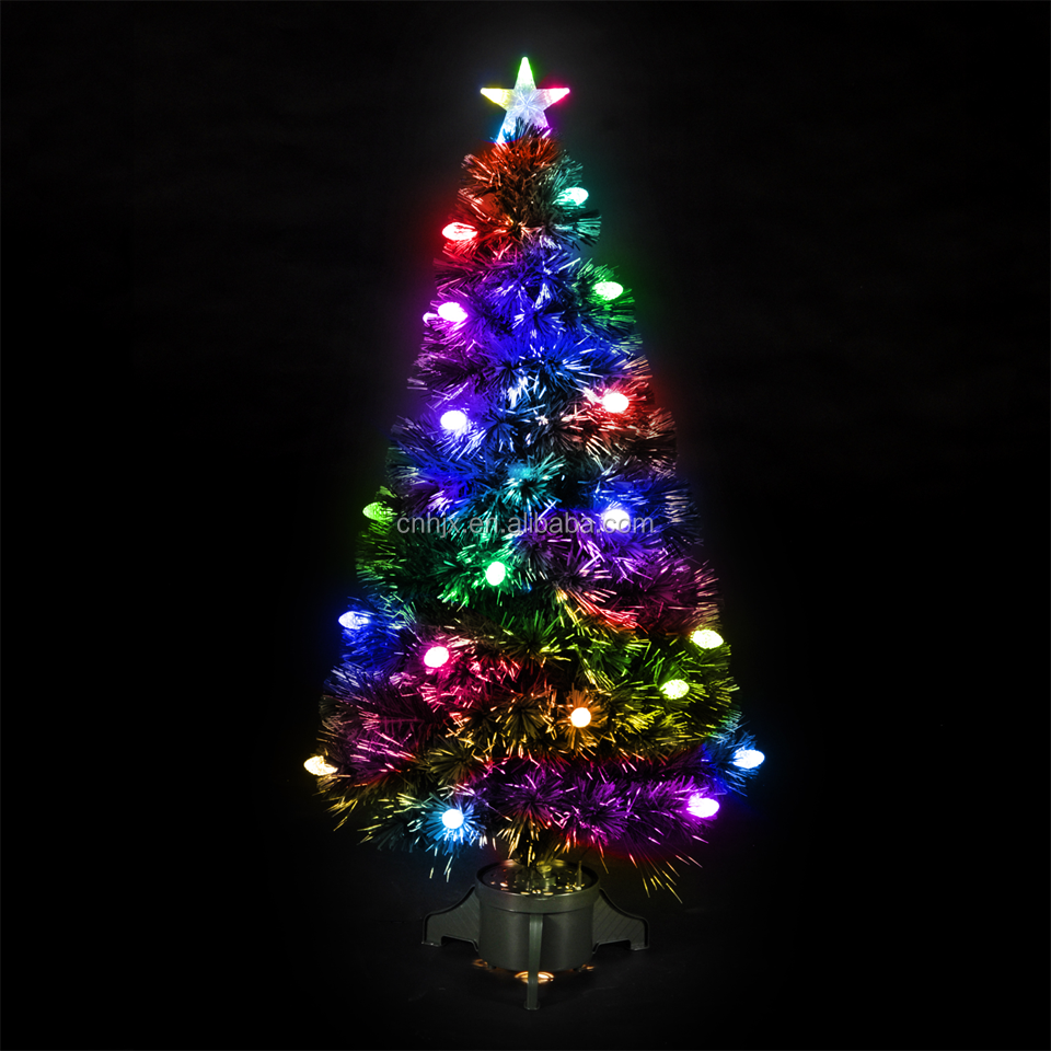 Diamond LED High Quality Fiber Optic Metal/ Plastic Stand Christmas Tree, Christmas Product