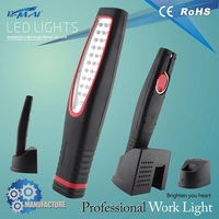Fashion battery powered led work light sensitive with hanging hook night lamp