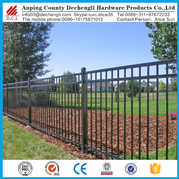 wholesale cheap price black aluminum fence /wrought iron fence