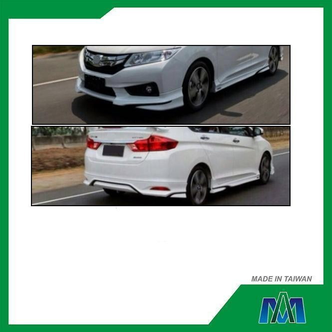 PP BODY KITS CAR FRONT BUMPER LIP REAR BUMPER LIP SIDE SKIRTS FOR HONDA CITY 2014 MD STYLE CAR SPARE PARTS