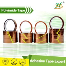 ISO9001 Double sided gold color high temp PI film tape