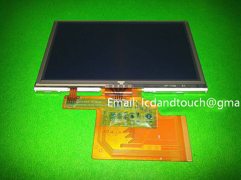 Original new 4.3' inch LMS430HF19 LCD screen + touch panel for TomTom one XL N14644 GPS LCD display Screen