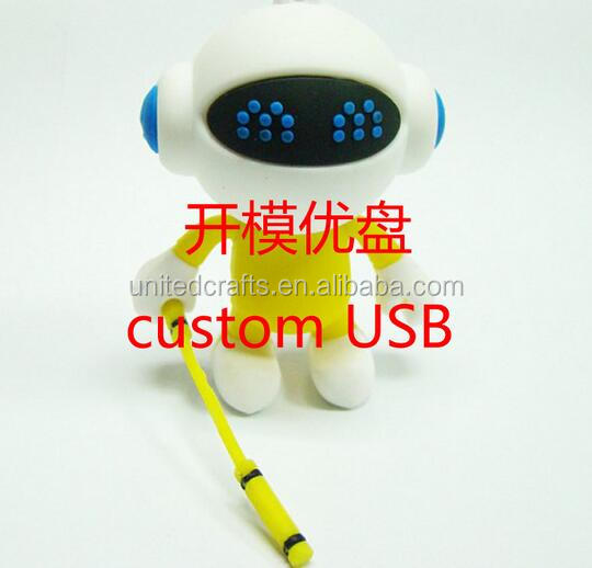 oem robot shape usb / soft PVC robot usb memory stick / silicone RObot usb flash drives