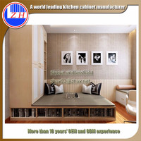 Modern bedroom furniture wardrobe designs with study shelf exported to Malta