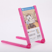 Counter Top Small Clear Plastic Picture Frames
