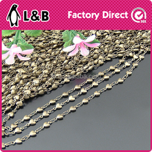 aluminum chain brass heart shape metal chain