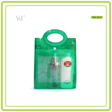 Good quality clear plastic cosmetic bags promotional wholesale pvc bags with handle