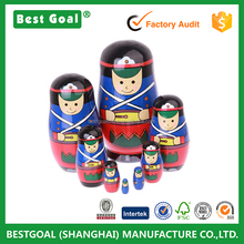 8 layers Drums Girls Matryoshka Doll Wood Made Ethnic Dolls Nesting Dolls