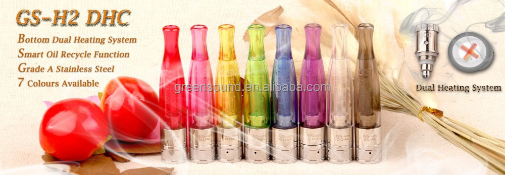 High quality new design H2S atomizer dual heating clearomizer best no wickless atomizer from Green Sound