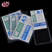 Wholesale Clear Vertical Hard Plastic Business PVC ID Badge Card Holder