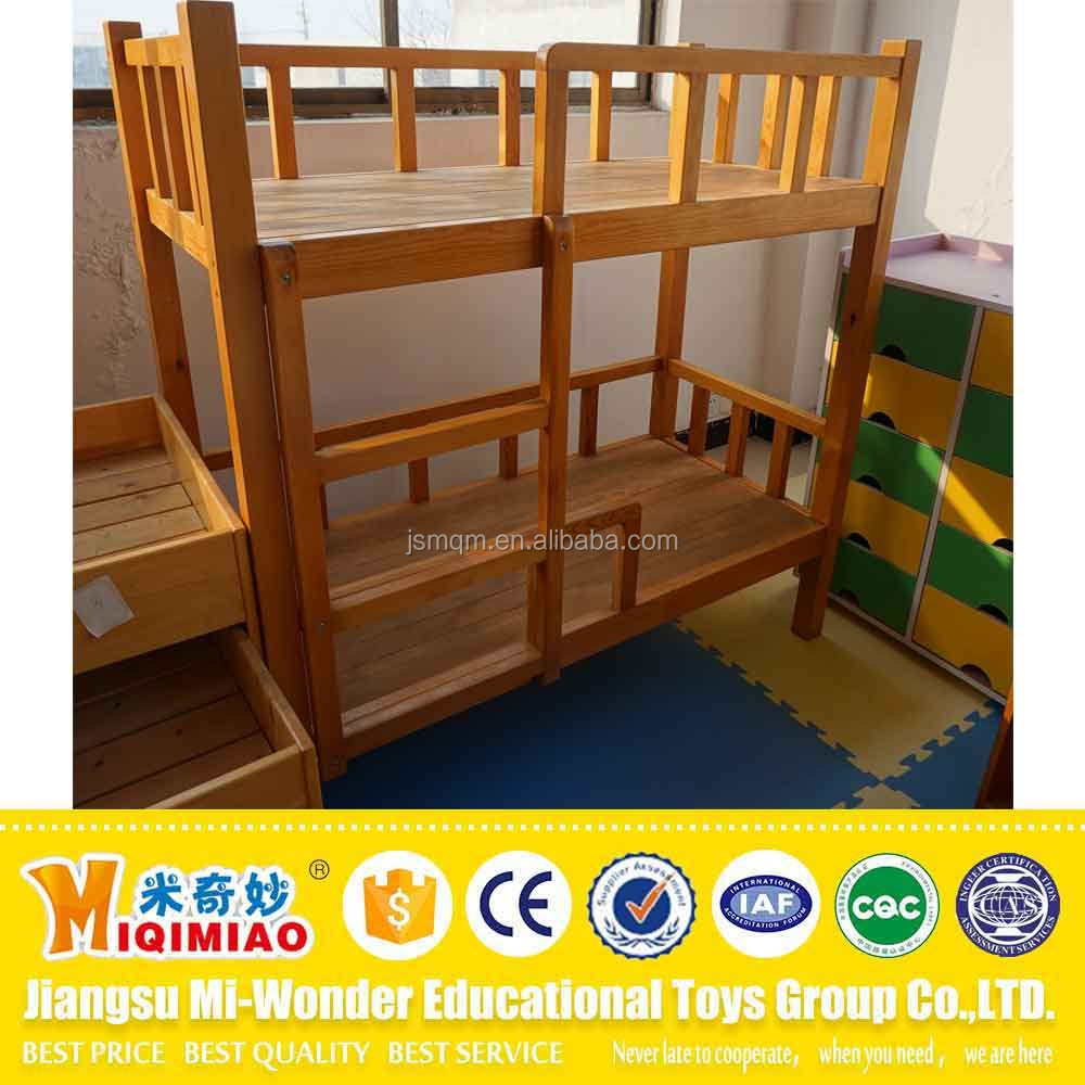 Kids furniture cheap wooden bunk bed with stairs for sale
