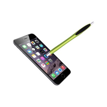 Function promotion multi color pen wholesale pen with touch stylus with cleaner on the clip