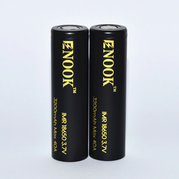 New arrival Enook 18650 3200mAh 40A 3.7V rechargeable battery with flat top pk18650 3500mah 60A battery