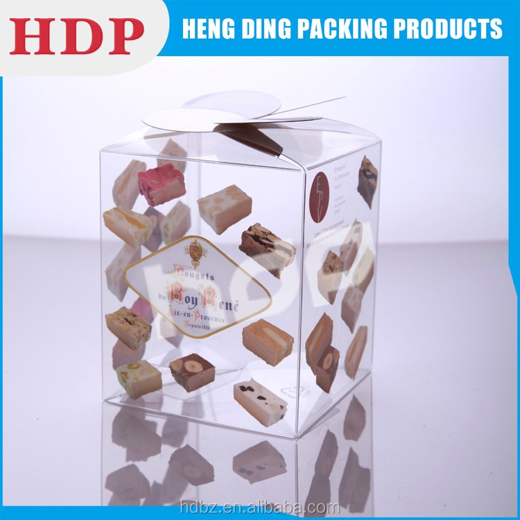 custom transparent clear pvc box packaging for cosmetic