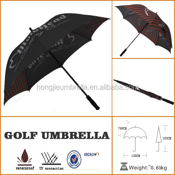 Top Quality Customized Rain Fashion MTN straight golf umbrella