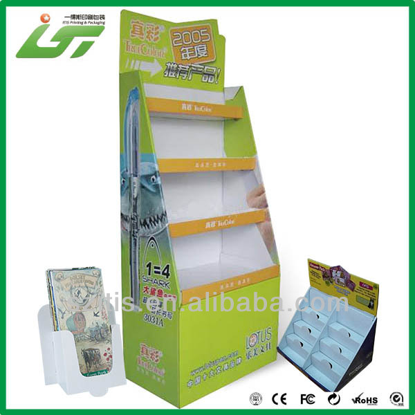 printing counter cardboard book display stand supplier