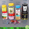 Color random square plastic bottles , pet sunflower seed container
