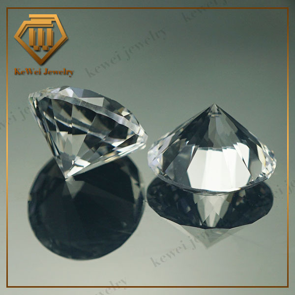 White Corundum Price in Loose Gemstone Round Brilliant Cut Synthetic Corundum Rough