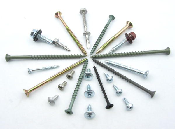Varied railway metal clips screws and fasteners