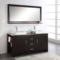 2015 High Quality Double Sink Solid Wooden Bathroom Vanity Made in China