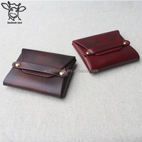 Handmade Band 11.8*9.3cm Wholesale Cheap Vintage Custom Genuine Leather Coin Purse