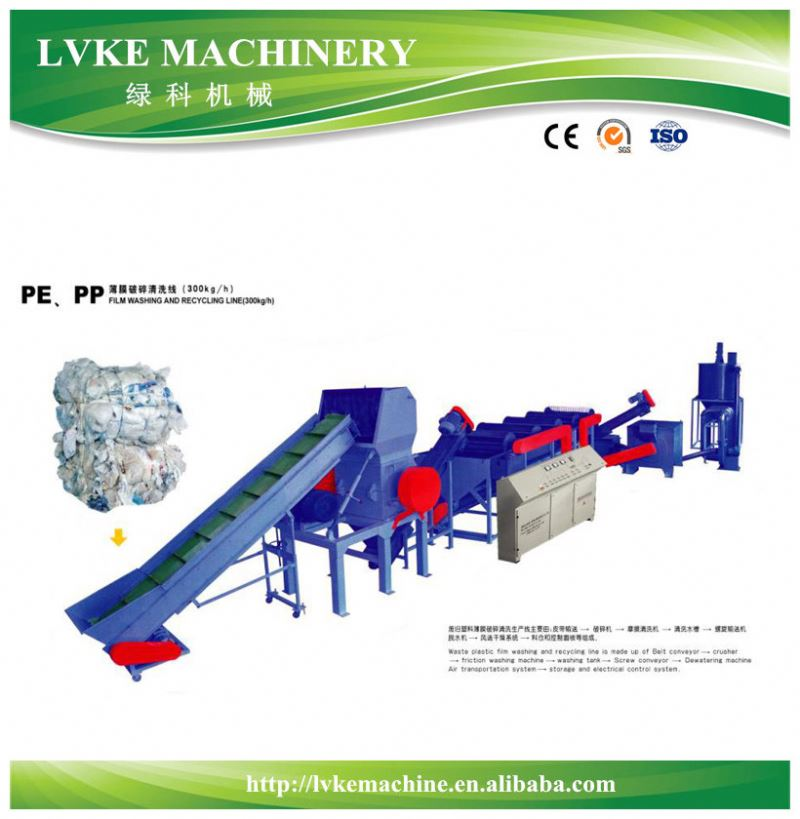 China supply pp pe film washing line with high quality