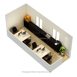 Two Bedrooms Living Container House Or Prefab Flat Pack Office Container