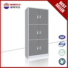 gray vertical 3 doors steel filing cabinet metal office furniture design