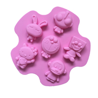 Cartoon animation character Silicone Cake Mold Cookie Soap Fondant Mould